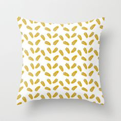 feathers Throw Pillow by kcdoodleart - $20.00
