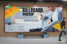 High quality subway mock billboard up with movable human model   11 Outdoor…