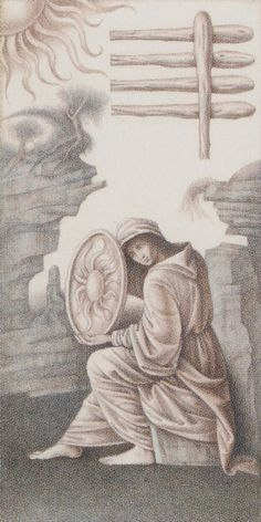 Five of Wands - Leonardo Da Vinci Tatot by A. Atanassov, Iassen Ghiuselev