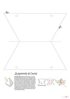 Gabarit pyramide de l'aventTélécharger le Gabarit pyramide de l'avent Line Chart, Diy, Table, Pillow Box, Calendar For 2017, Paper Crafting, Greeting Card, Bricolage, Diys