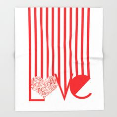 Love Typography Throw Blanket by Jaymee - $49.00