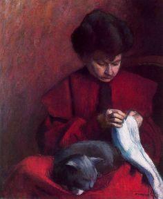 The Artist's Mother, 1906 - Albert Marquet (French, Post-Impressionism Pierre Auguste Renoir, Edouard Manet, Crazy Cat Lady, Crazy Cats, Charles Gleyre, Rio Sena, Centre Pompidou, Berthe Morisot, Post Impressionism