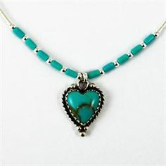 Natural turquoise Native American pendant necklace from Brave Design £28.00 available at http://www.melburygallery.co.uk/shop/necklaces/brave-turquoise-heart-pendant-silver-necklace.htm