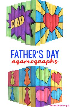 Father's Day art project that kids can create themselves and be proud of when they give to dad. Father's Day agamographs will be something dad will surely love!