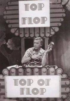 """""""Top of Flop"""" met Herman Stok; begin zestiger jaren."""