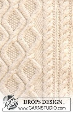 29 Ideas Crochet Lace Scarf Free Drops Design For 2019 Cable Knitting, Knitting Charts, Knitting Stitches, Knitting Patterns Free, Free Knitting, Stitch Patterns, Free Pattern, Cable Knit Blankets, Finger Knitting