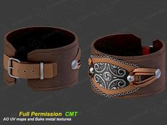 Leather Stamped Cuff Full Permission
