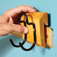 Angled cleat hanger system - Customized garage storage system DIY design