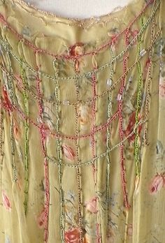 embroidery embellishment with beads in this chemise by Max Studio