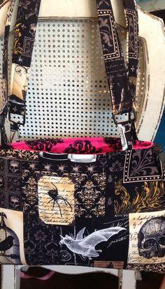 Holy skull, adorable punk gothic bag/skull fabric by Iminstitches2 on Etsy https://www.etsy.com/listing/151912522/holy-skull-adorable-punk-gothic-bagskull