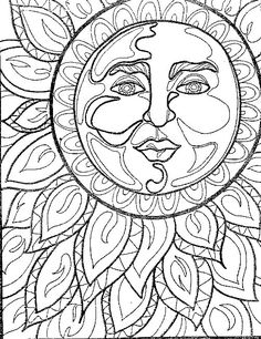 mandala para colorear american hippie coloring pages art psychedelic sun
