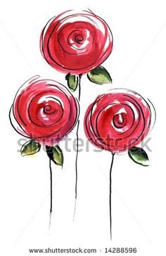 Abstract Painted Floral Background Different Shades Stock Illustration 14288596 - Abstract painted floral background in different shades of rose and red with romantically pink roses - Watercolor And Ink, Watercolor Flowers, Abstract Flowers, Abstract Paintings, Watercolor Paintings, Rose Paintings, Abstract Art, Flower Doodles, Doodle Art