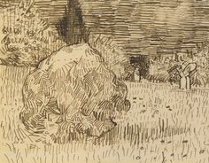 File:Vincent van Gogh - Jardin public à Arles (drawing). Van Gogh Drawings, Ink Pen Drawings, Drawing Sketches, Drawing Art, Vincent Van Gogh, Rembrandt, Theo Van Gogh, Gcse Art Sketchbook, Landscape Drawings