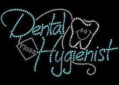 Dental Hygienist Rhinestone Tshirt Transfer by BlingnPrintStreet
