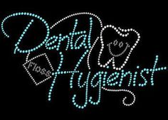 Dental Hygienist Rhinestone Tshirt Transfer Motif Design by BlingnPrintStreet | Etsy