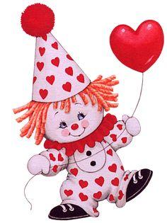 Apaixonados por gifs: Lindas imagens em gif Ruth Morehead bebês e crianças vestidas de palhaço circo