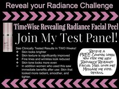 Mary Kay Volu-Firm Revealing Radiance Facial Peel Test Panel www.marykay.com/micamunford