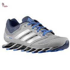 Adidas Mens Springblade entraînement Chaussures de course - Tech Gris / bleu Beauté / collégiale - Chaussures adidas (*Partner-Link)