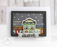 Card by designer Tyra Babington with our Holiday Town stamp set.  Available in Australia at www.dawnlewis.com.au