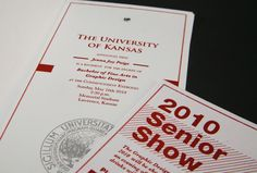 """This is the invitation to my graduation from the University of Kansas. The type """"little Jenna is graduating into the BIG world,"""" visually translates to the lowercase """"j"""" reaching out to all the capital letters. I am comparing me, as an undergraduate, to l…"""
