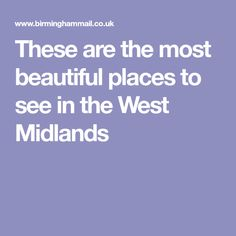 These are the most beautiful places to see in the West Midlands Most Beautiful, Beautiful Places, Kids News, West Midlands, Family Kids, Birmingham, Places To See, Easy, Fun