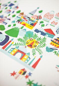 Fine Little World from http://www.shop.finelittleday.com/posters/fine-little-world