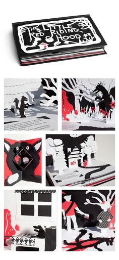 The Little Red Riding Hood pop-up book by Sarah Petersen, via Behance