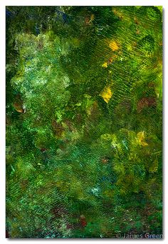 Acrylic Abstract, Study Green
