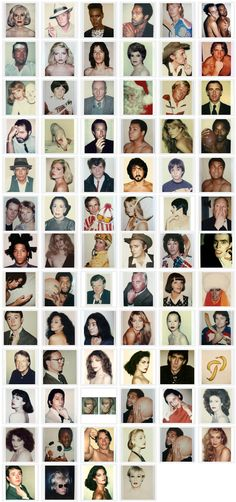 Warhol Polaroids....they can tag all the 'celebs'...but not Joseph Beuys- where is the justice!?