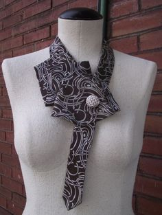 Constance- Upcycled Handstitched Vintage Necktie Collar-Watervliet