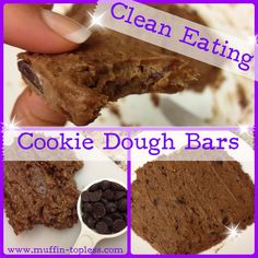 Clean Eating Cookie Dough Bars