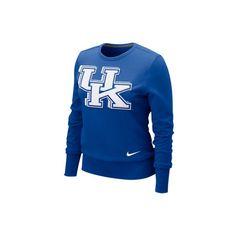 Kentucky Wildcats Women's Nike Royal Heather Long Sleeve Sco... - Polyvore