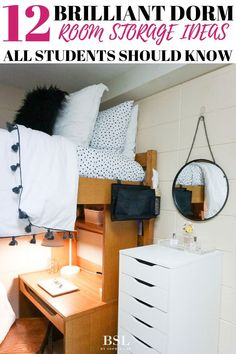 3 products must-have for dorm room organization