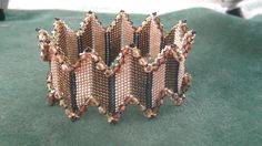 Beading4perfectionists : Stitch nr. 15 : Diagonal Peyote bangle bracelet...