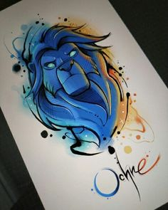 New Ideas For Disney Art Drawings Sketches Artworks Cute Disney Drawings, Cool Art Drawings, Art Drawings Sketches, Cartoon Drawings, Animal Drawings, Cartoon Art, Lion Cartoon Drawing, Drawing Ideas, Lion King Drawings
