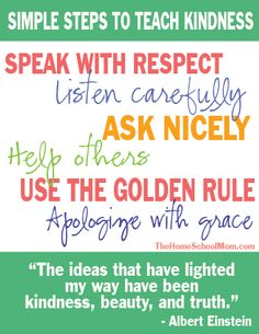Simple Steps for Teaching Kindness to Kids - How we speak to and treat our children matters. Modeling skills such as good listening, how to speak nicely even when you are in a hurry or upset, and the Golden Rule, all contribute to creating a kinder Planet Earth.