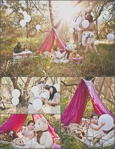 I think placing balloons like I did in this session, would be cute too! White is best just so it keeps things clean and classic looking.    Child Family Session 1 by Alicia Gines Photography