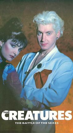 """siouxsie4ever: """" morganaspikes: """" Siouxsie Sioux & Budgie """" BudSioux in 1990 """""""