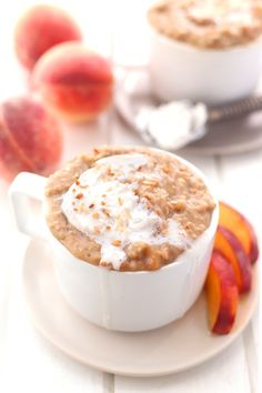 Peaches and Cream Steel-Cut Oats - As the warm weather approaches, some of our most-loved fruits come out of hiding and take center stage to our dearest dishes. Peaches are the perfect sweet treat to indulge in, especially combined with the breakfast favorite— steel-cut oatmeal. Combined with rich, creamy coconut milk and you've got yourself a delish breakfast or special treat that won't break the diet.