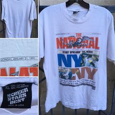 Vintage The National Sports Daily Super Bowl XXV TShirt 90s Screen Stars Best XL | eBay