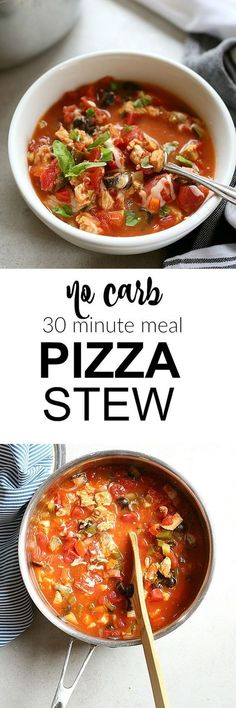 FacebookTwitterGoogle+PinterestPizza stew is a great way to use up all those leftover Italian pizza toppings without adding any carbs to your diet. This soup takes as little as 30 minutes and uses hardly any dishes. No deep dish here! Just... Continue Reading →