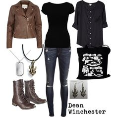 """""""Dean Winchester"""" by winterlake25 on Polyvore"""