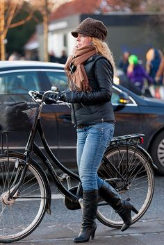 Cycle chic in Copenhagen.