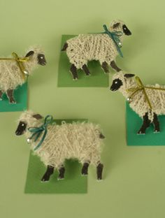 Simplify this idea for preschoolers...learning about sheep/wool/yarn