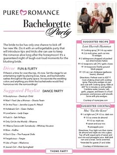Pure Romance bachelorette party theme ideas and many more themed party ideas! message me and lets book it! by sherri