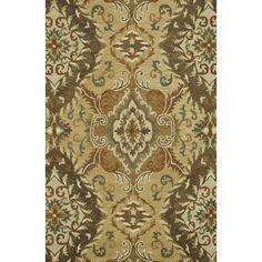 Handmade Harrison Gold Wool Rug (7'10 x 11'0) | Overstock.com
