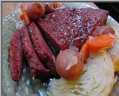 Brown Sugar & Dijon Glazed Corned Beef w/ Cabbage & Red Potatoes