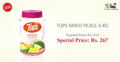 Shop Online for Tops Mixed Pickle at Special Price on Kiraanastore. Get Free Shipping & Cash on Delivery.