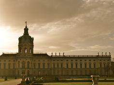 Charlottenburg palace, shot against the sun