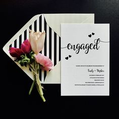 Invite your guests to celebrate your engagement with these pretty invitations by #polkadotpaper